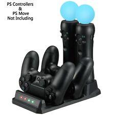 Estación de carga quad para el ps movimiento y el controlador PS4 PlayStation 4