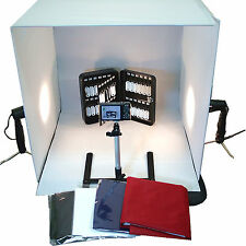 "Photo Studio 24"" Photography Light Tent Backdrop Kit 60cm Cube Lighting In A Box"