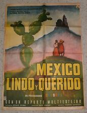 """MEXICO LINDO Y QUERIDO""  1958  ORIGINAL Movie Poster"