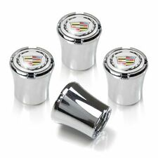 Cadillac Logo Silver Tire Valve Stem Caps Set of 4 MADE IN USA