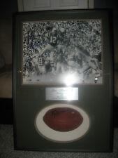 Joe Namath Autographed Shadowbox 16x20 & Football Auto Steiner & OA Coa's