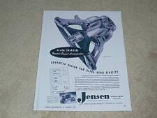 Jensen G-610 Triaxial Speaker Ad, 1951, Article, RARE!