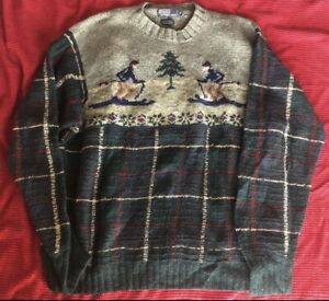 Ralph Lauren Polo Downhill Ski Wool Sweater Men's XL