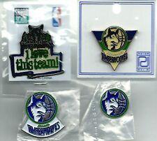 NBA Minnesota Timberwolves 4 Pin/1 Magnet/2 Button Lot 90's OOP SCARCE Wolves