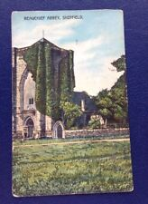 POSTCARD: BEAUCHIEF ABBEY: SHEFFIELD: USED: POSTED: NO POSTAGE STAMP