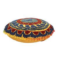 Suzani Cushion Cover 16'' Handmade Indian Vintage Embroidered Floor Shams Decor