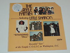 THE STEELE FAMILY FEATURING LITTLE SHARON standing tall Lp RECORD PROMO GOSPEL