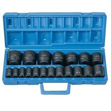 Grey Pneumatic 19 Pc. 1/2In Dr. Fractional Impact Socket Set Gry1319 New