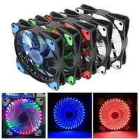 120mm DC 33LED Cooling Case Fan for PC Computer Quiet Edition CPU Cooler 5-Color