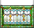 Yogoart Tiffany Style Stained Glass Green Window Wall Panels 24  X 16