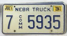 Nebraska 1984 Truck Vintage Embossed License Plate 7-5935 Buy 1 or 2 Plates