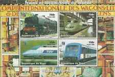 Timbres Trains Niger 1243/6 ** année 1998 lot 9005 - cote : 15,00 euros