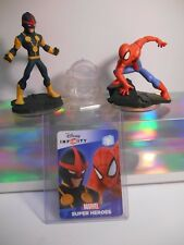 Disney Infinity 2.0 Spider Man & Nova Figures with Play Set Crystal and Web Card