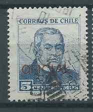 CHILE 1960 Sc.O79 5c blue OFICIAL Montt