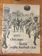 1977 Chicago Lions Rugby Football Club Yearbook Program