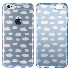 Dynex - Clear Jelly Silicone TPU Cloud Print Cover Case for Apple iPhone 6 / 6s
