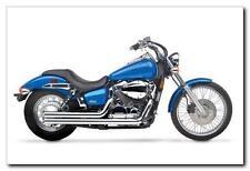 "Hard Krome 2.5"" American Classic Straights Exhaust with Tips Honda Shadow Spirit"