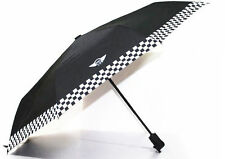 BMW Mini Cooper Black Portable Automatic Folding Umbrella Checkered