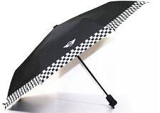 BMW Mini Cooper Black Portable Automatic Folding Umbrella Checkered