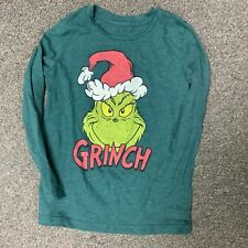 CHRISTMAS BOYS LONG SLEEVE SHIRT SIZE 6 GENTLY USED JUMPING BEANS GRINCH GREEN