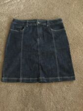 Relativity Womans Size 14 Denim Jean Skirt Modest Short Skirt