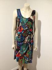 Sleeveless Stretch Rainbow Mult-Coloured Career Dress Size 12 ?