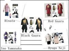 Naruto Hyuga Neji Ino Yamanaka Gaara Gourd Bag Hinata Cosplay Costume Whole Set
