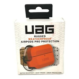 UAG AirPods Pro Rugged Silicone Case with Detachable Carabiner, Orange