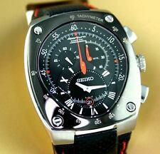 SEIKO Sportura Kinetic SNL017 SNL017P1 Chronograph Mens Black Dial 100m Watch