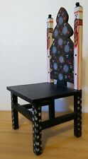 Vintage Wood Christmas Miniature Decorative Doll Chair.