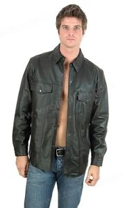 First Manufacturing The Milestone: Lightweight Lambskin Leather Shirt - MD