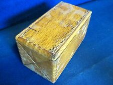 vintage 1889 folding wood puzzle Singer sewing machine accessory box - filled!