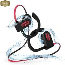 bluetooth headset Sterio Handfree Universal Water Proof Red Earbuds Wireless