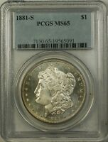 1881-S Morgan Silver Dollar $1 PCGS MS-65 Proof Like Obverse Better Coin RL