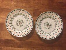 "(2) 6.5"" Ceralene Limoges LAFAYETTE Bread  & Butter Plates Empire Shape Floral"