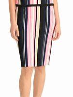 Rachel Rachel Roy Womens Straight Pencil Skirt Pink Blue XS Knit Striped $99 138