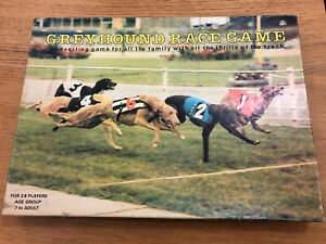 Vintage 1985 Greyhound Race Board Game Complete In Good Condition