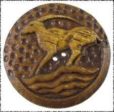 Extra Large Vintage Burwood Button - Art Deco Antelope
