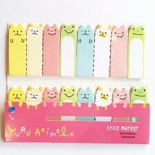 120 Sheets Cute Farm Animals Mini Sticky Notes Page Marker Memo Tab Sticker UK