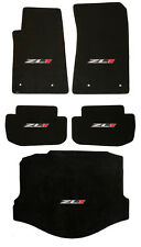 NEW! 2010-2015 BLACK FLOOR MATS Camaro Embroidered ZL1 Logo on ALL 5 Deck Trunk