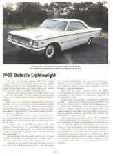 1963 Ford Galaxie 427 Lightweight Article - Must See !!