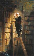 'Il topo da biblioteca quadro - Stampa d''arte su tela telaio in legno'
