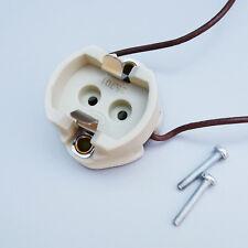 2x Keramik Fassung für CDM-T   HCI-T   HQI-T   HIT G12 Sockel Halterung + Kabel