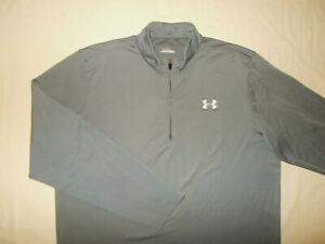 UNDER ARMOUR 1/2 ZIP LONG SLEEVE GRAY PULLOVER MENS XL EXCELLENT CONDITION