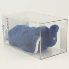 Authenticated TY Beanie Baby - PEANUT the Royal Blue Elephant (3rd Gen Hang Tag)