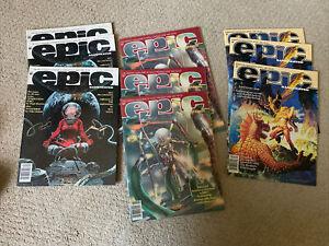 EPIC ILLUSTRATED Marvel Fantasy Sci Fi Comic Magazine 9pc