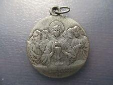 MEDALLA RELIGIOSA PAPA PIO X / CRISTO CELEBRANDO LA EUCARESTIA -1908