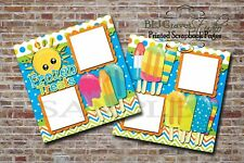Frozen Treats~ 2 PRINTED Premade Scrapbook Pages, Ice Cream Layout BLJgraves 35