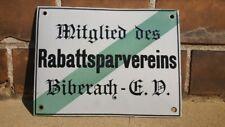 Rabattsparverein Biberach Schild Email Emaille Rabatt Mitglied