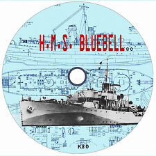 "Model Boat 1/72 Scale Drawings 33 3/4"" Flower Class HMS Bluebell & Article"